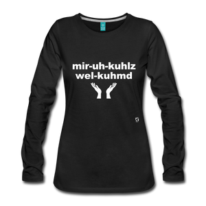 Miracles Welcomed Long Sleeve T-Shirt - black