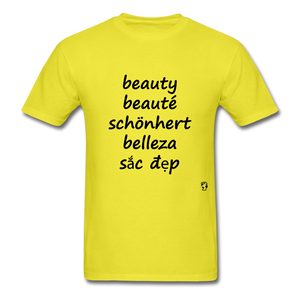 Beauty in Five Languages - yellow