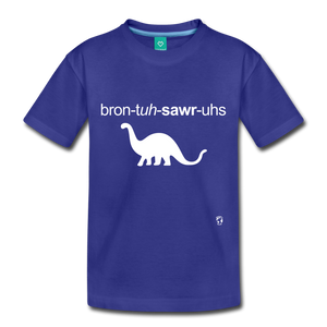 Brontosaurus Toddler Premium T-Shirt - royal blue
