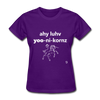I Love Unicorns T-Shirt - purple
