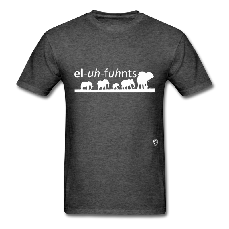 Elephants T-shirt - heather black