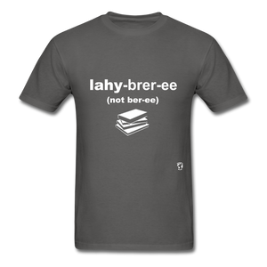 Library T-Shirt - charcoal