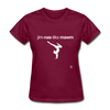 Gymnastic's Mom T-Shirt - burgundy