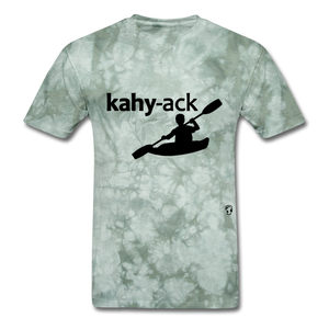 Kayak T-Shirt - military green tie dye