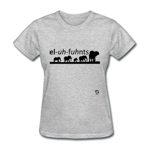 Elephants T-Shirt - heather gray