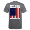 Proud Army Mom Red White and Blue T-Shirt - mineral charcoal gray