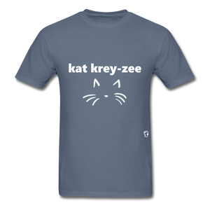 Cat Crazy T-Shirt - denim