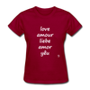 Love in Five Languages T-Shirt - dark red