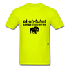 Elephant Sanctuary T-Shirt - safety green