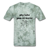I Love Unicorns T-Shirt - military green tie dye