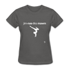 Gymnastic's Mom T-Shirt - charcoal