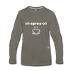 Espresso Long Sleeve T-Shirt - asphalt gray
