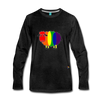 Rainbow Sheep Long Sleeve T-Shirt - charcoal gray