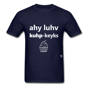 I Love Cupcakes T-Shirt - navy