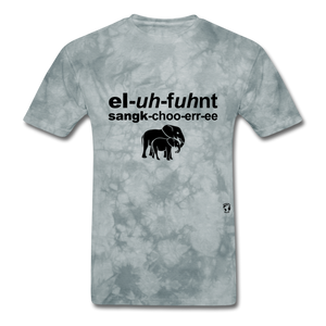 Elephant Sanctuary T-Shirt - grey tie dye