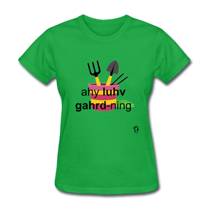 I Love Gardening T-Shirt - bright green