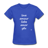 Love in Five Languages T-Shirt - royal blue