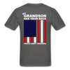 Proud Army Grandpa Red White and Blue T-Shirt - charcoal
