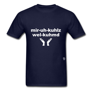 Miracles Welcomed T-Shirt - navy