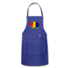 Rainbow Sheep Adjustable Apron - royal blue