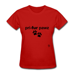 Prefer Paws T-Shirt - red
