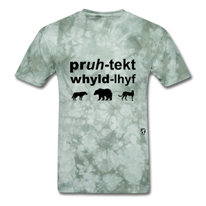 Protect Wildlife T-Shirt - military green tie dye