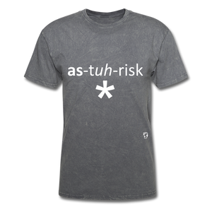 Asterisk T-Shirt - mineral charcoal gray