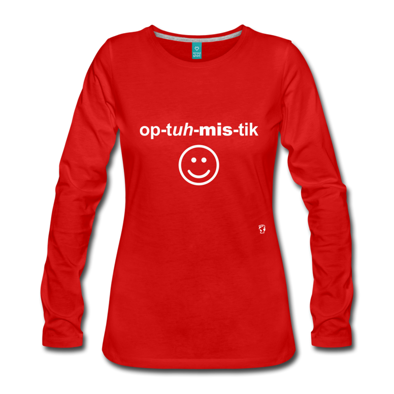 Optimistic Long Sleeve T-Shirt - red