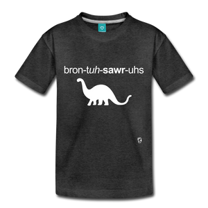 Brontosaurus Toddler Premium T-Shirt - charcoal gray