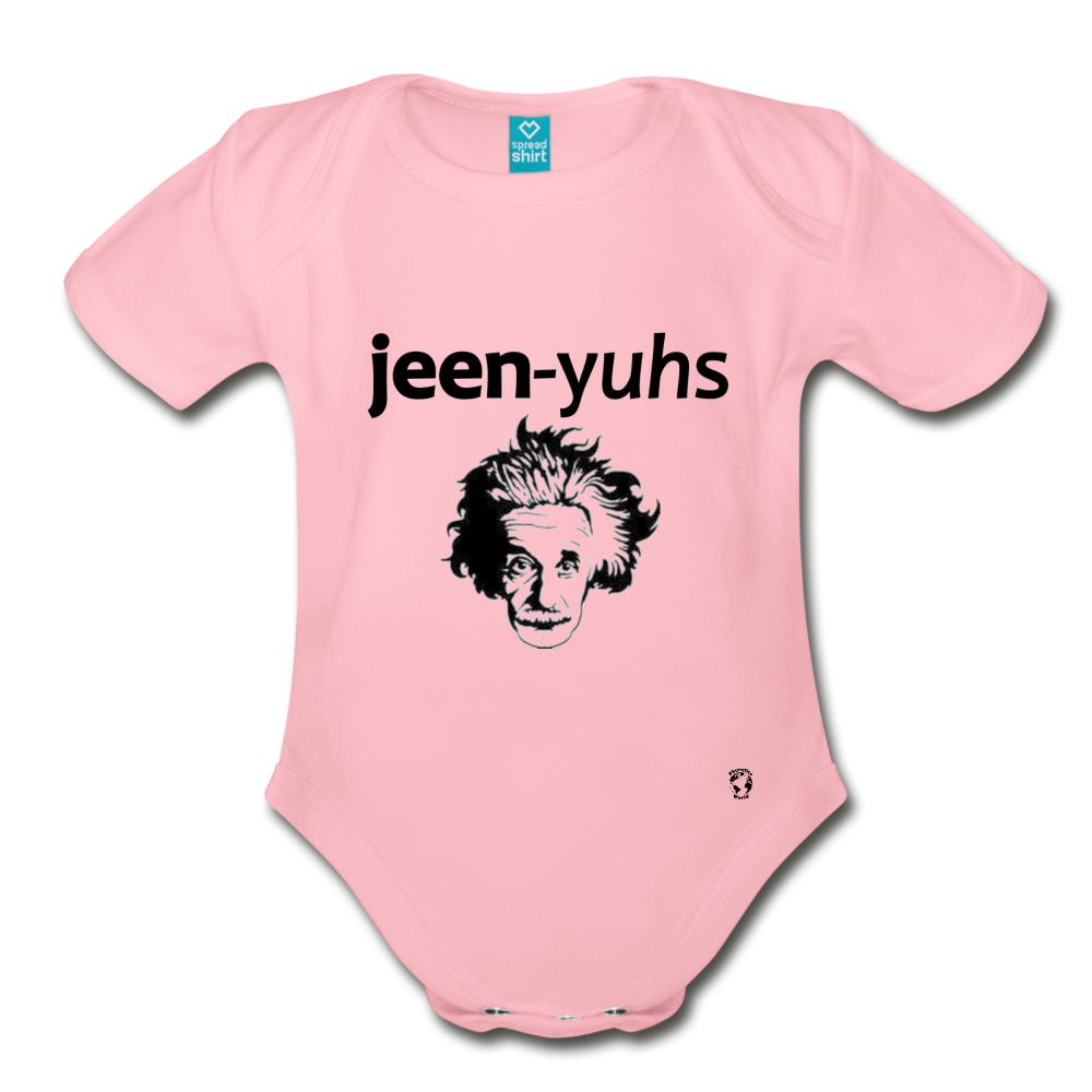 Genius Organic Short Sleeve Baby Bodysuit - light pink