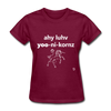 I Love Unicorns T-Shirt - burgundy