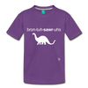 Brontosaurus Toddler Premium T-Shirt - purple