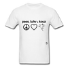 Peace, Love and Cows T-Shirt - white