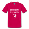 I Love Gymnastics Toddler Premium T-Shirt - dark pink