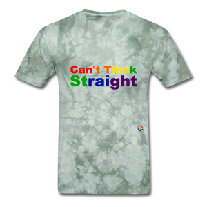 Can't Think Straight T-Shirt - military green tie dye