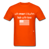 American Loyalty T-Shirt - orange