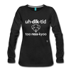 Addicted to Rescue (dog) Long Sleeve T-Shirt - black