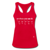 Enthusiastic Racerback Tank Top - red