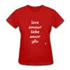 Love in Five Languages T-Shirt - red