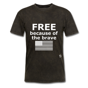 Free Becasue of the Brave T-Shirt - mineral black