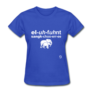 Elephant Sanctuary T-Shirt - royal blue