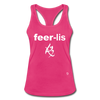 Fearless Racerback Tank Top - hot pink