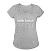Health Coach Women's Tri-Blend V-Neck T-Shirt - heather gray