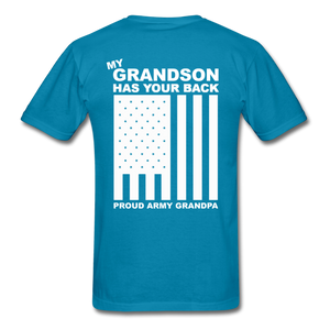 Army Grandpa T-Shirt - turquoise
