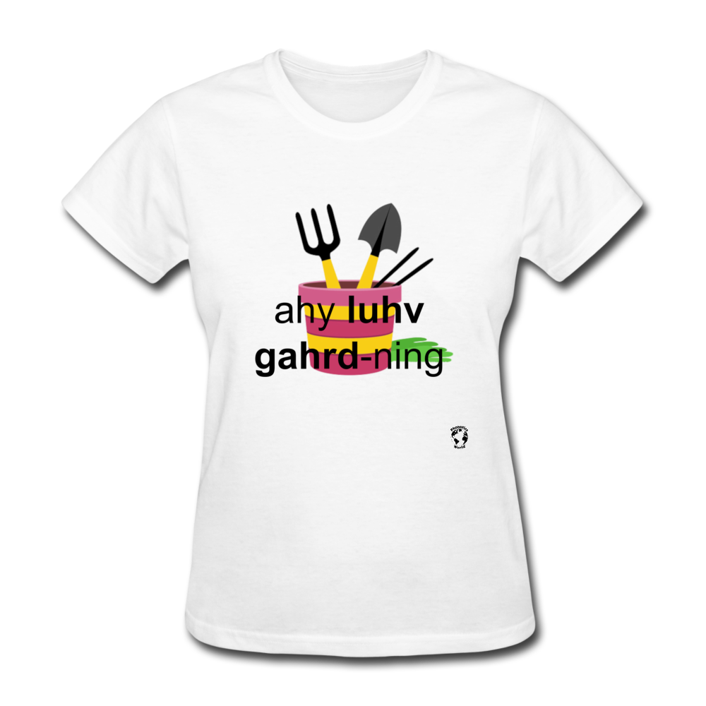 I Love Gardening T-Shirt - white