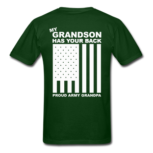 Army Grandpa T-Shirt - forest green