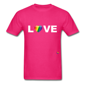 Love T-Shirt - fuchsia