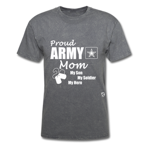 Proud Army Mom T-Shirt - mineral charcoal gray