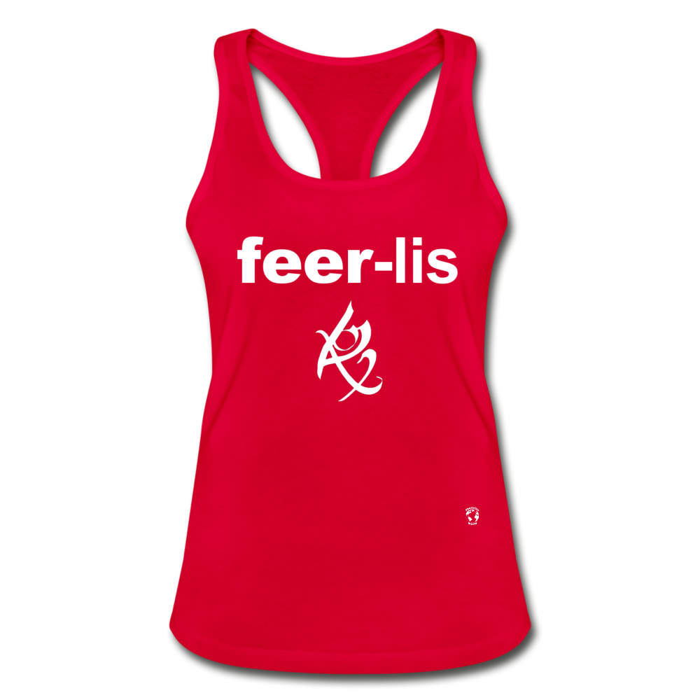 Fearless Racerback Tank Top - red