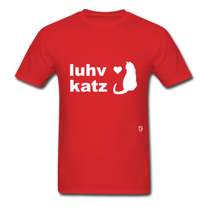 Love Cats T-Shirt - red